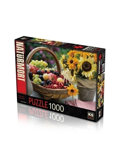 KS Puzzle KS Puzzle 11227 Fruit And Sunflower Temalı 1000 ParÇa Puzzle Renkli